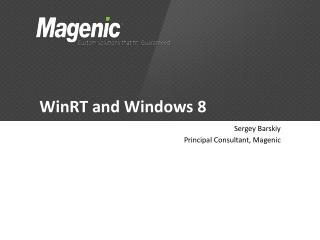 WinRT and Windows 8