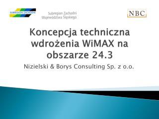 Koncepcja techniczna wdrożenia WiMAX na obszarze 24.3