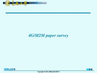 4G/M2M paper survey