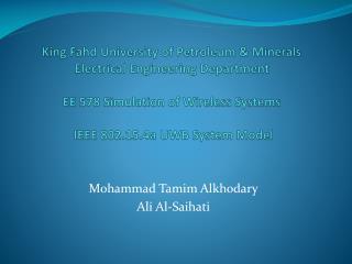 Mohammad  Tamim Alkhodary Ali Al- Saihati