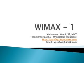 WIMAX - 1