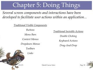 Chapter 5: Doing Things