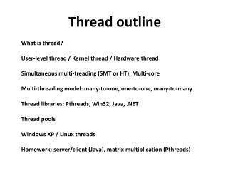 Thread outline