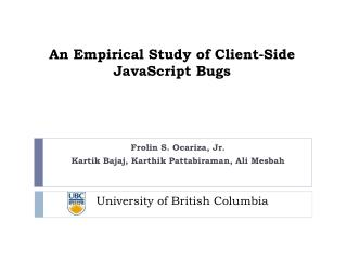 An Empirical Study of Client-Side JavaScript Bugs