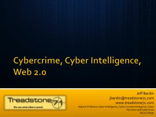 Cybercrime, Cyber Intelligence, Web 2.0