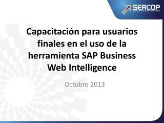 Capacitación para usuarios finales en el uso de la herramienta SAP Business Web Intelligence