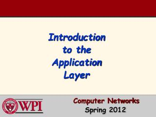 Introduction to the Application Layer