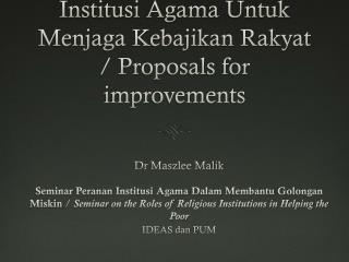 Dr Maszlee Malik