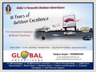 OOH Promotion Through Bus Shelter for Hotels at Mira Road -