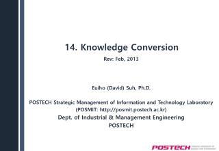 14. Knowledge Conversion