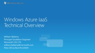 Windows Azure IaaS Technical Overview