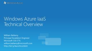 Windows Azure IaaS Technical Overview