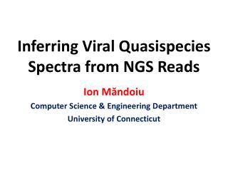 Inferring Viral  Quasispecies  Spectra from NGS Reads