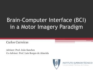 Brain-Computer Interface (BCI) in a Motor Imagery Paradigm