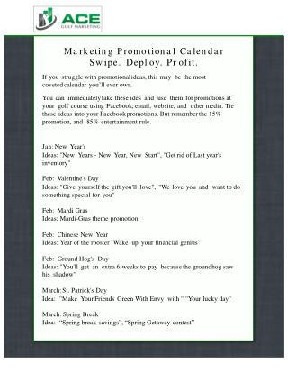 Marketing Promotional Calendar