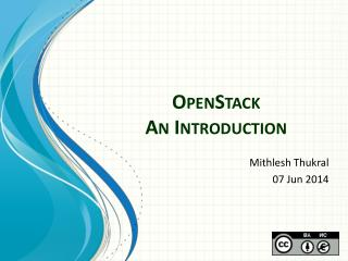 OpenStack An Introduction