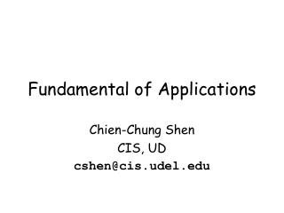 Fundamental of  Applications