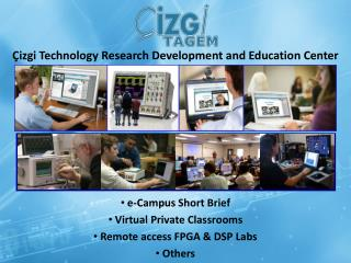 e-Campus  Short  Brief  Virtual Private Classrooms  Remote access FPGA & DSP Labs  Others