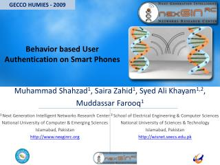 Behavior based User Authentication on Smart Phones
