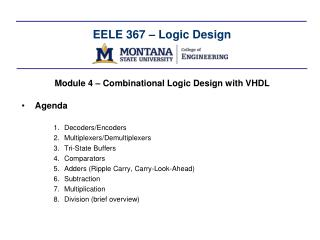 EELE  367 � Logic Design