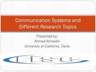 Communication Systems and Different Research Topics