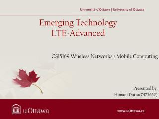 Emerging Technology LTE-Advanced