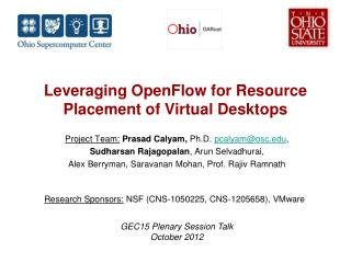 Leveraging  OpenFlow for Resource Placement of Virtual Desktops