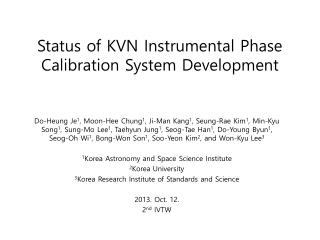 Status of KVN Instrumental Phase Calibration System Development