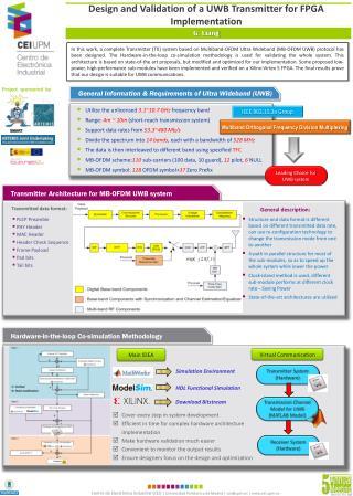 Design and Validation of a UWB Transmitter for FPGA Implementation