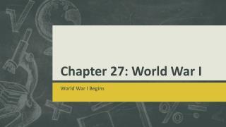 Chapter 27: World War I