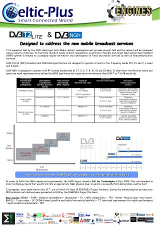 Designed to address the new mobile broadcast services