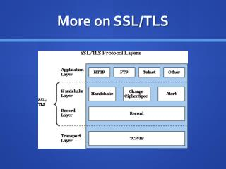 More on  SSL/TLS