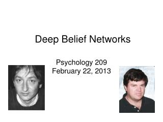 Deep Belief Networks
