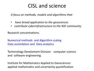 CISL and science