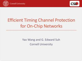 Efficient Timing Channel Protection for On-Chip Networks