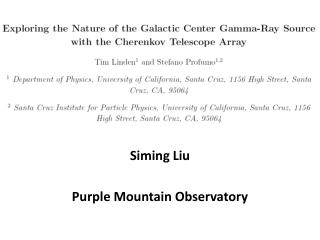 Siming  Liu Purple Mountain Observatory