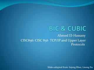 BIC & CUBIC