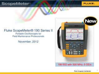 Fluke ScopeMeter® 190 Series  II Portable Oscilloscopes for  Field  Maintenance Professionals