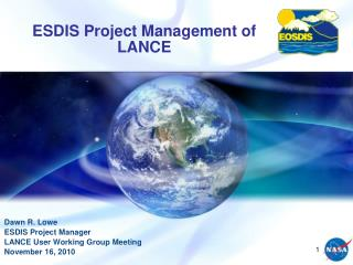 ESDIS Project Management of LANCE