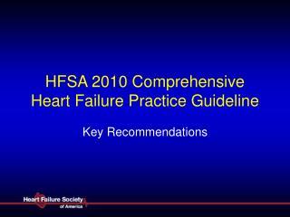 HFSA 2010 Comprehensive Heart Failure Practice Guideline