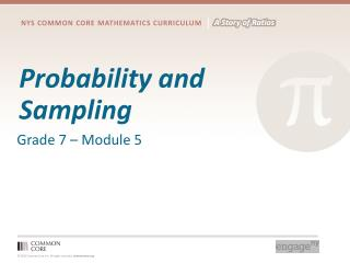 Probability and Sampling