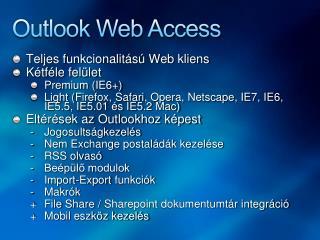 Outlook Web Access