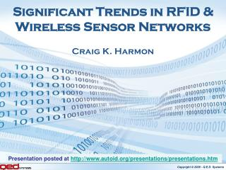 Significant Trends in RFID & Wireless Sensor Networks