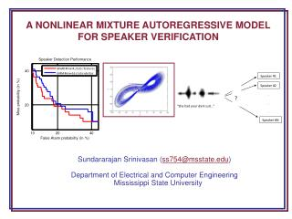 A NONLINEAR MIXTURE AUTOREGRESSIVE MODEL FOR SPEAKER VERIFICATION