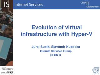 Evolution  of virtual infrastructure with Hyper-V