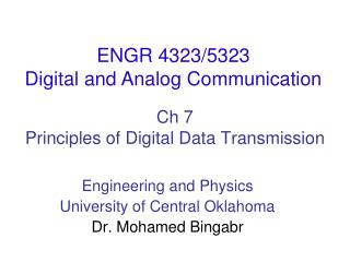 Ch  7 Principles of Digital Data Transmission