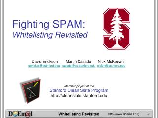 Fighting SPAM: Whitelisting Revisited