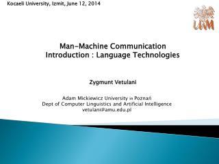 Kocaeli University , Izmit,  June  12, 2014
