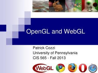 OpenGL and WebGL