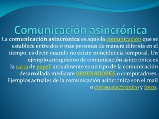 Comunicación asincrónica